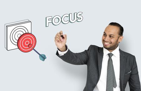 sucess: Goal focus aim sucess graphic Stock Photo