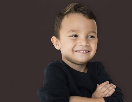 A little boy is really confidence Stock Photo - 80384045