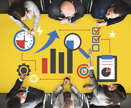 Business corporate progress chart report