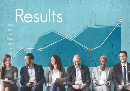 기업 비즈니스 라인 그래프 보고서