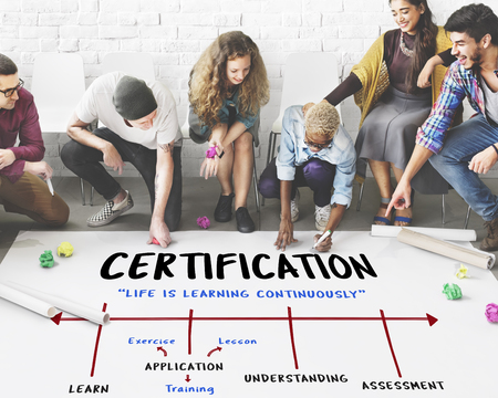 School Academy Institute Certification Arrow