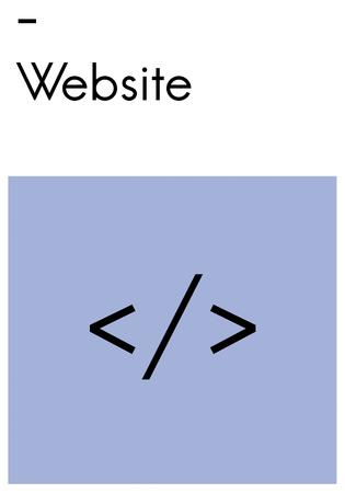 ブラケットをコーディング レイアウト Web テンプレート