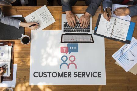 Customer Service Help Desk Consultant Stock Photo