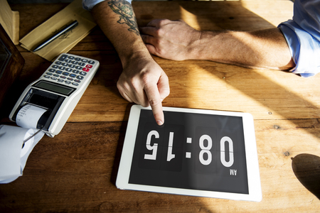 Commerce Comsumer Time Open Hour Stock Photo