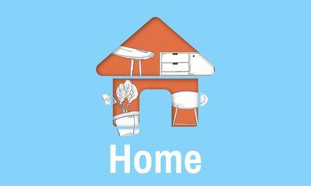 Wohnung Home Ihre Raumdekoration Renovierung Stil Standard-Bild - 80370261