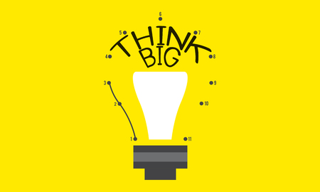 Imagination Innovate Think Big Icon Stockfoto
