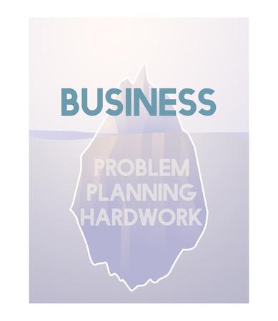Problem Planning Hard Work Achievement Iceberg Graphic Фото со стока