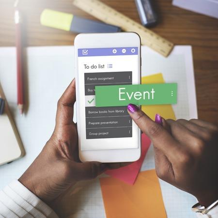 Digital To do List App Interface 写真素材