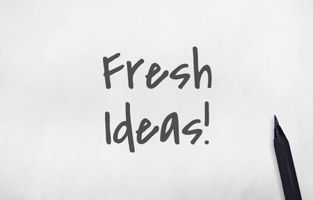 Fresh Ideas Inspire Imagination Design Creativity Concept