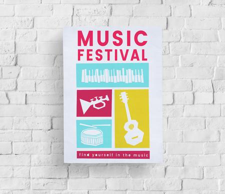 Illustratie van passie vrije tijdsactiviteit van het muziekfestival