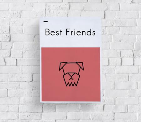 Adopt Animals Best Friends Dog Icon Stock Photo