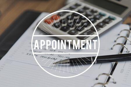 Appointment Meeting Agenda Calendar Concept Stock Photo