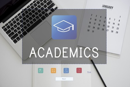 Illustration of literacy academics education mortar board 版權商用圖片
