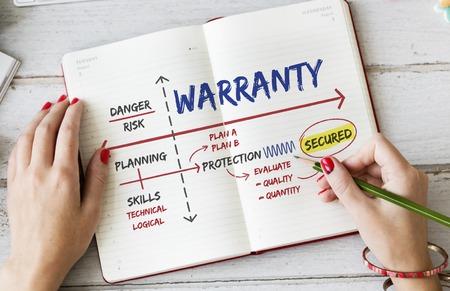 Warranty Assurance Guarantee Secured Plan Stock Photo