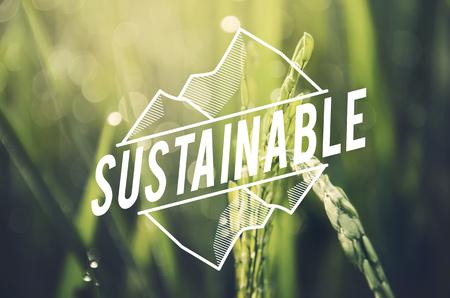 대체 농업 지속 가능한 자연 개념 스톡 콘텐츠