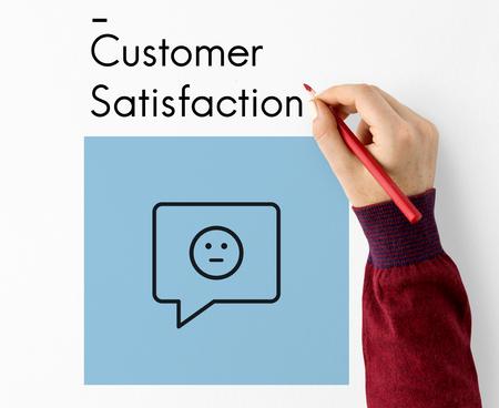 Review Evaluation Satisfaction Customer Service Feedback Sign Icon 版權商用圖片