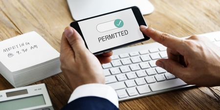 Permitted Allowance Approve Corporate Permission Stock Photo