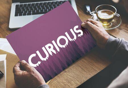Curious Mystery Bizarre Strange Concept Stock Photo