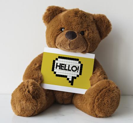 Say Hello Hi Greeting Speech Bubble Graphic