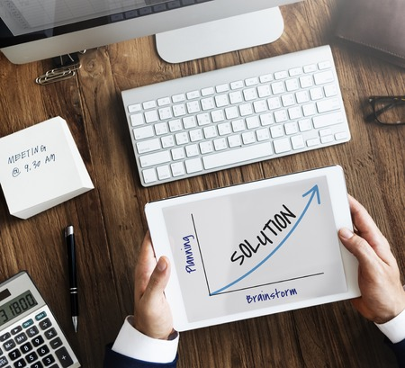 Oplossingsvoorstel Grote werkdoelstellingen Stockfoto