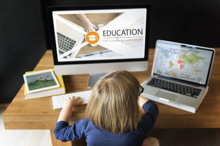 Online leren van afstandsonderwijs webpagina
