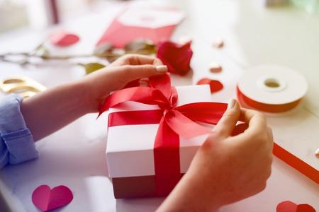 Hand handicraft create gift box
