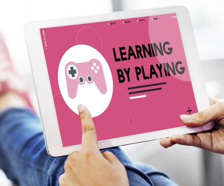 ゲームのエンターテイメント活動レジャー遊ぶ 写真素材