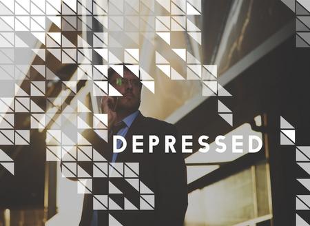 Depressed Emotion Feelings Graphic Design Stock Photo