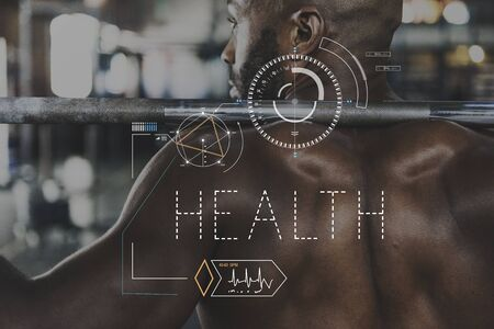 physique: Wellness Health Lifestyle Workout Graphic Word Stock Photo