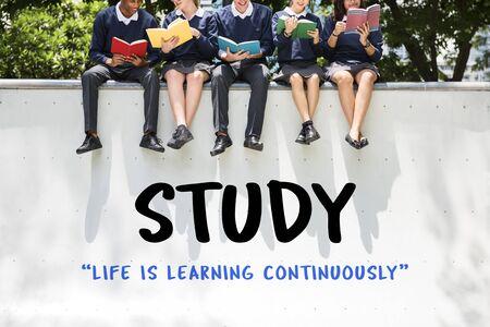 Onderwijs College Geletterdheid Kennisverwerving Stockfoto