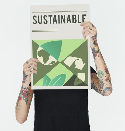 Save the planet is our responsibility. Reklamní fotografie