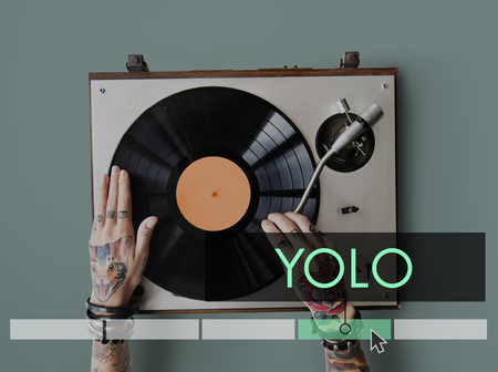 plater: Yolo Dream Life Motivation Explore Adventure Stock Photo