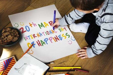 International Day Of Happiness Concept Stok Fotoğraf