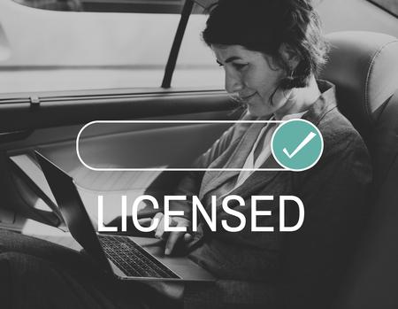 Licensed Assurance Certificate Guarantee Service Stock Photo