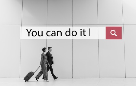 dont walk: You Can Do It Quote Aspiration Optimistic Stock Photo