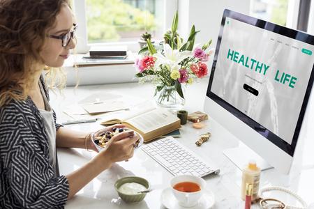 Balance Diät Fitness Gesunde Ernährung Lebenkonzept Standard-Bild