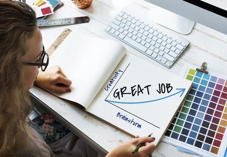 Gran propuesta de trabajo Solución Motivación Motivación Foto de archivo - 80421217