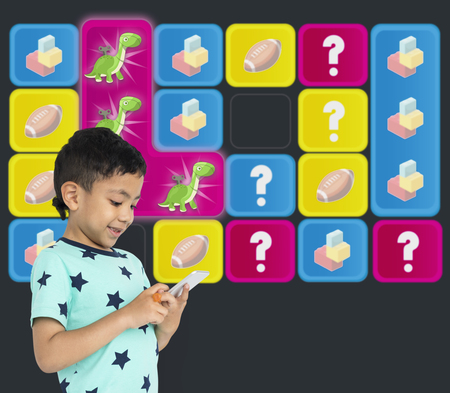 matching: Dinosaur Toy Bricks Rugby Secret Question Matching Stock Photo