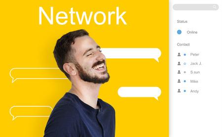 Chat Message Talk Connect Notification Word Banco de Imagens - 80344027