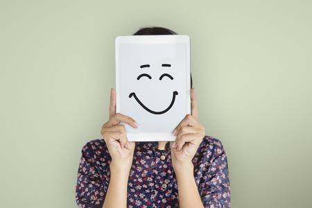 Drawing Facial Expressions Emotions Feelings Stock fotó