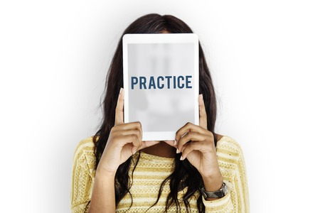 Practice Accomplisehmake Progress Training Reklamní fotografie - 80344162