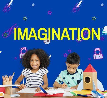 De melkweg van de verbeelding het vrolijke illustratie leren