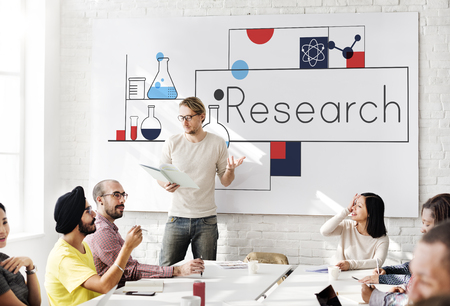 explanations: Research Discovery Answer Facts Results Stock Photo