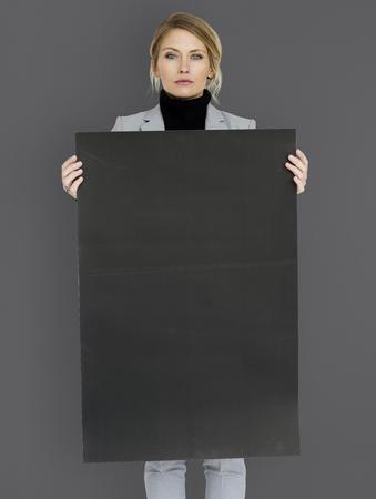 boldness: Woman Confidence Self Esteem Copy Space Portrait Concept