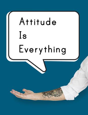 態度の視点視点のアイデア意見 写真素材