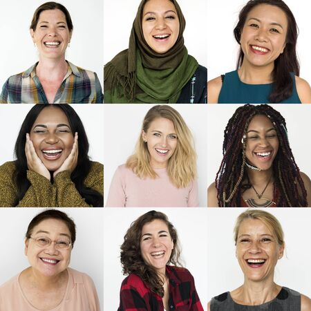 Collages diverse women together in square