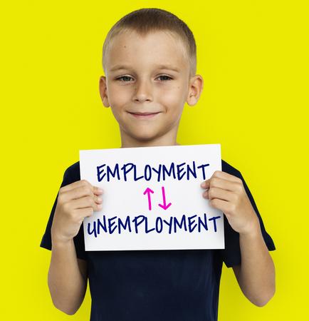 Antonyms Employment Unemployment Arrow Graphics Stok Fotoğraf - 80375895