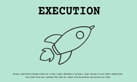 로켓 발사 우주선 아이콘 혁신