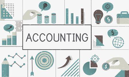 金融マーケティング ビジネス プランの図 写真素材