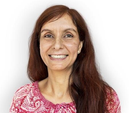 Adult woman smiling studio portrait Banco de Imagens - 80376117